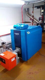 Εγκατάσταση λεβητοστασίου με καυστήρα Μικτής καύσης