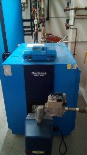 Εγκατάσταση Λέβητα 220 KW  με καυστήρα αερίου